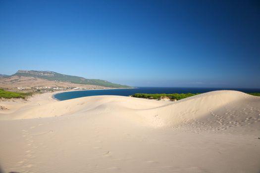 dunes over Bolonia beach