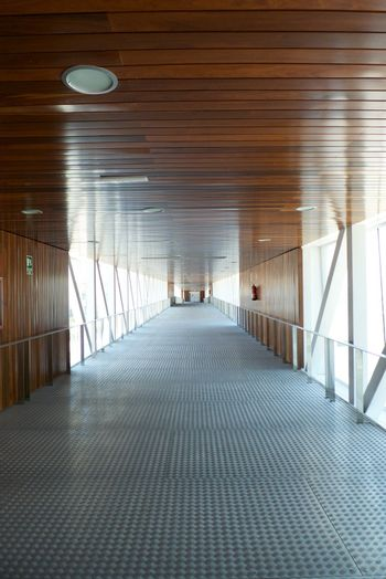 metal and wood passage