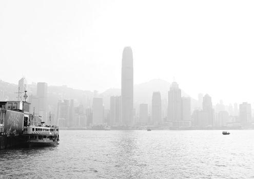Hong Kong with heavy smog
