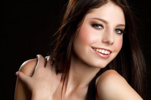 Beautiful pretty smiling young woman