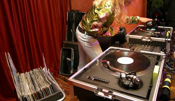DJ - girl at club