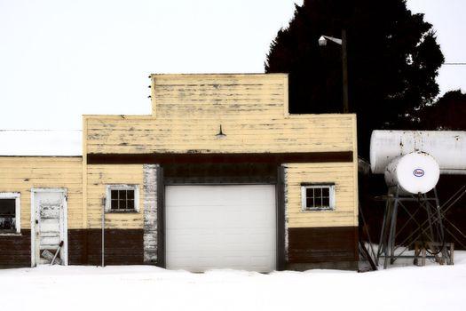 An abandoned gasoline station