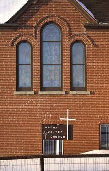 Brora United Church in winter
