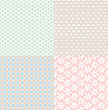 set of simple cute backgrounds vector illustration