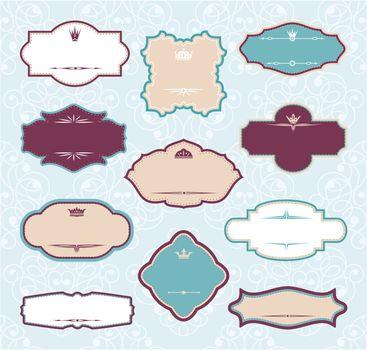 set of royal decorative frames