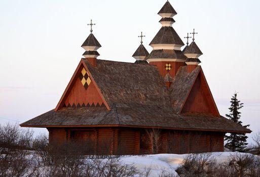 Ukrainian Orthodox Church in winter