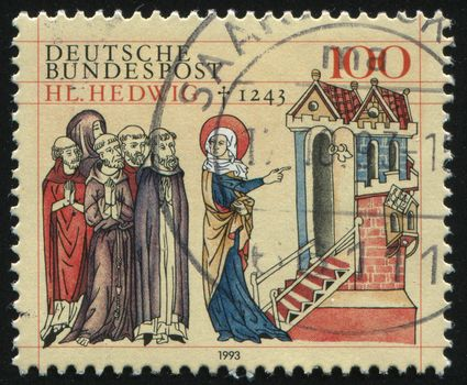 GERMANY- CIRCA 1993: stamp printed by Germany, shows St. Hedwig of Silesia, circa 1993.