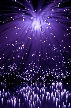 Violet fiber optic cascade