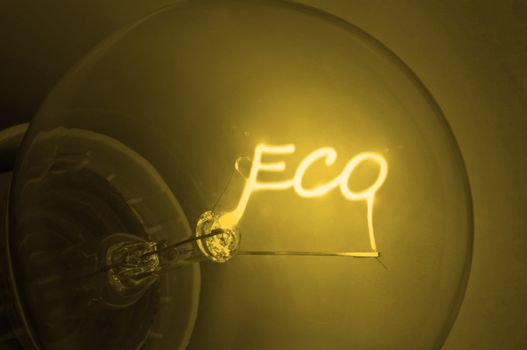 Golden ecological  energy.