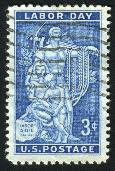 UNITED STATES - CIRCA 1956: stamp printed by United states, shows Mosaic, AFL-CIO Headquarters, circa 1956