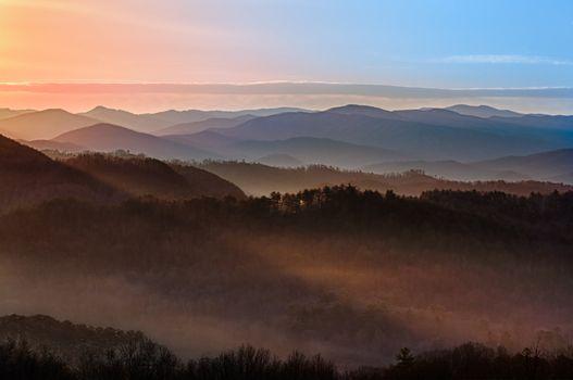 Sunrise over Smoky Mountains