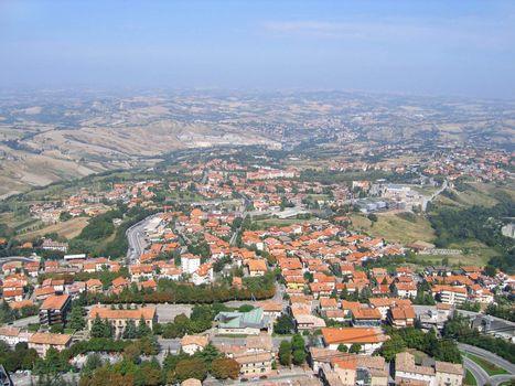 Italy, Republic San Marino, top view