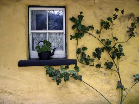 an old irish cottage window