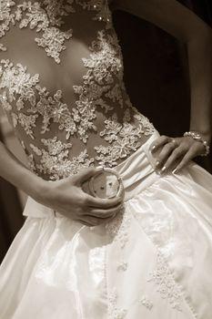 The top part of a wedding dress
