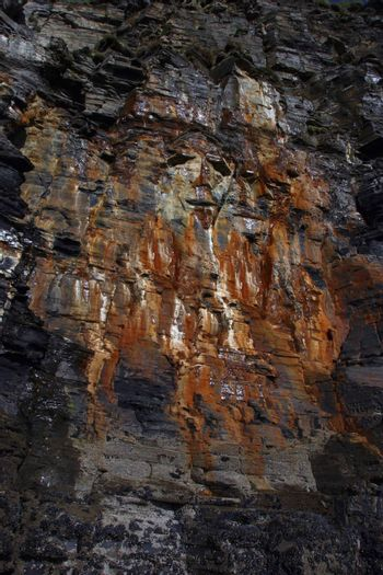 a face on a cliff