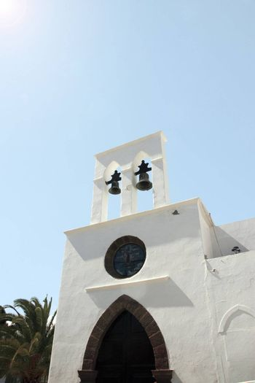 a church building in a lanzaroti town