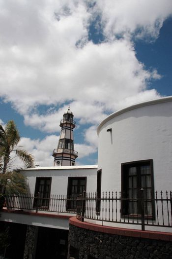 an old town light house in lanzarote