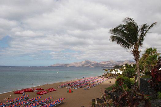 a view of a  lanzarote beach