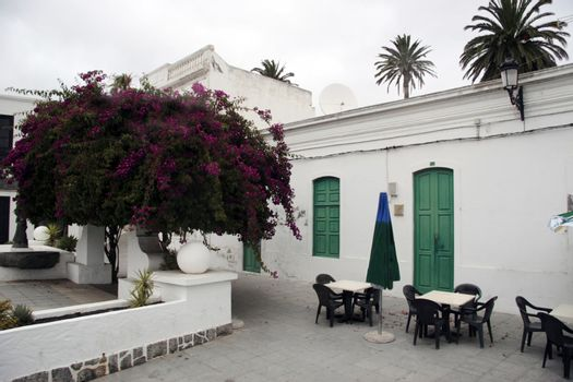 a court yard in a lanzarote town