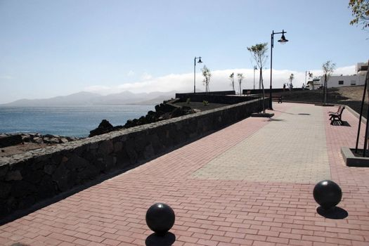 a  path on the lanzarote coast line