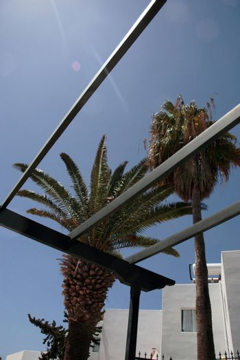 a court yard in a lanzarote apartment block