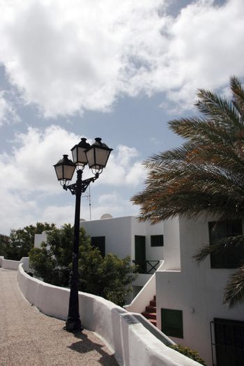 an apartment building in a lanzarote town