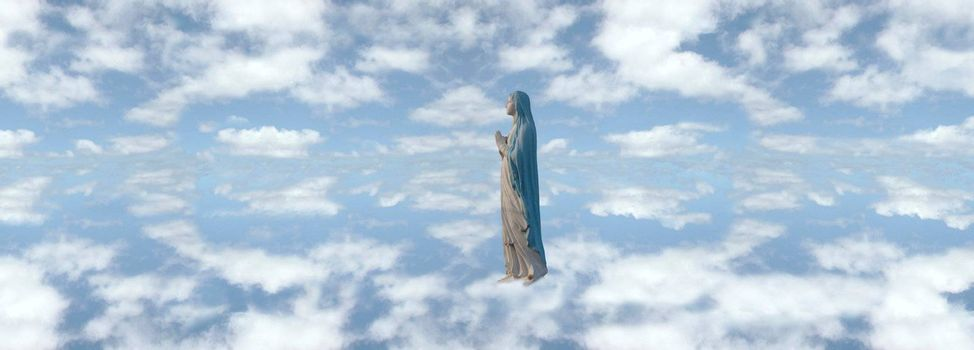 an image of mary in a heavenly setting