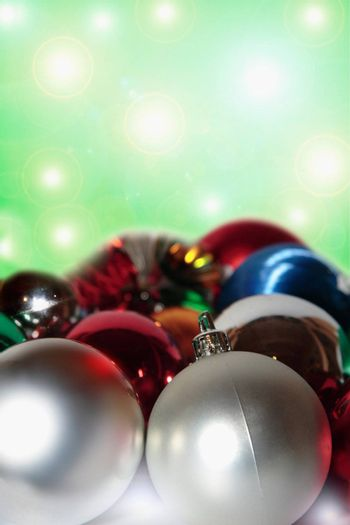 a selection of christmas balls and baubles