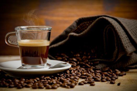 Hot smoking coffee