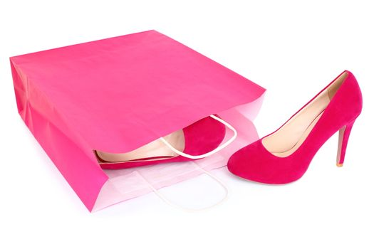Shopping shoes isolated