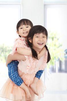 happy asian girls