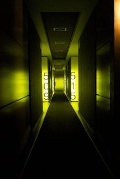 dark indoor corridor