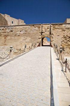 door of fortress at Lleida city