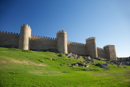 four towers of fortification town