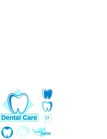 set of dentistry vector designs, in vector format very easy to edit, individual objects