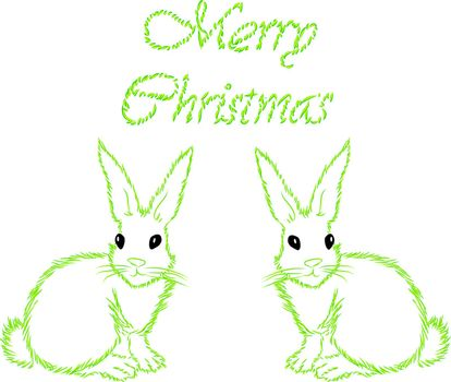 The white hare with