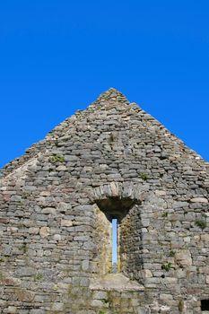 an old ruin of an irish church