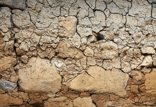 Cracked, parched land after a drought