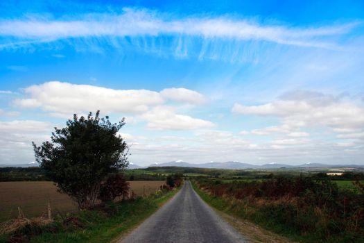 a straight road to the knockmealdown mountains