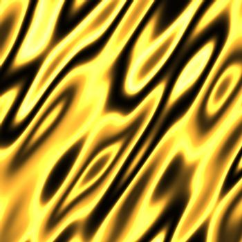 A golden flames background texture - very hot.