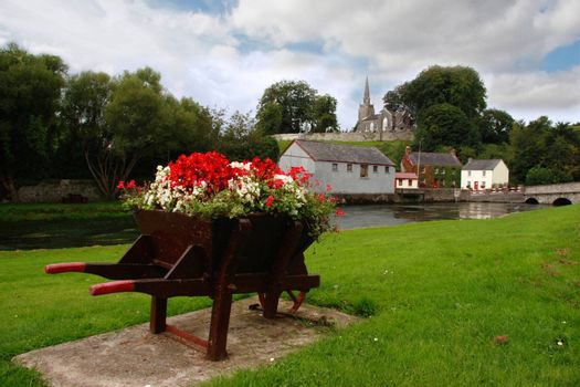 a beautiful irish town in the country
