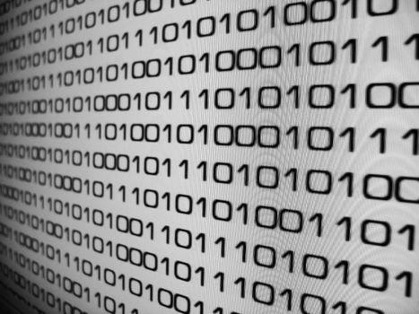 Zeros and Ones - binary code background.