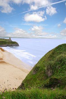a scenic view of the irish coastline