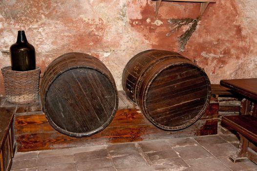 Cellar with casks