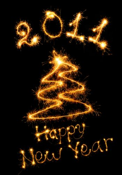 Postcard of a congratulation happy New Year