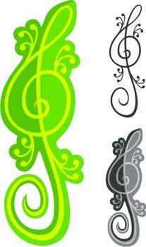 Lizards treble clef
