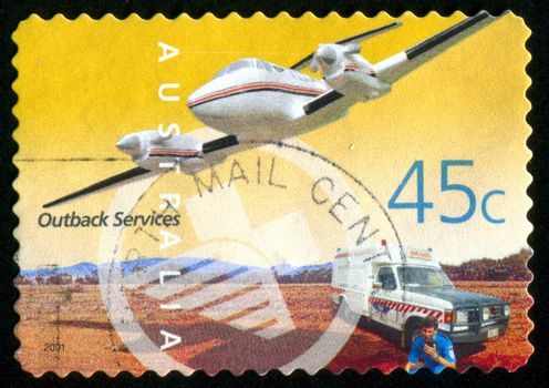 AUSTRALIA - CIRCA 2001: stamp printed by Australia, shows Outback Services, circa 2001