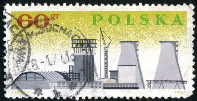 POLAND - CIRCA 1966: stamp printed by Poland, shows Chemical Plant, circa 1966.