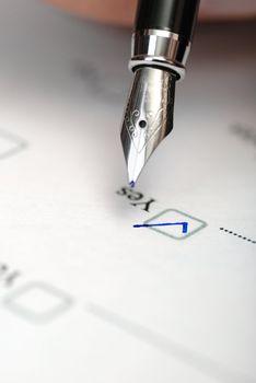 questionnaire close up