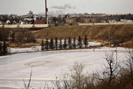 Skating oval in Moose Jaw, Saskatchewan, Canada